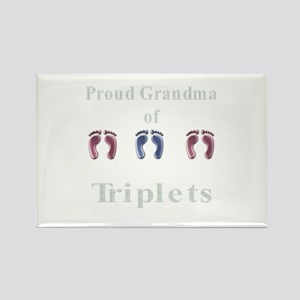 proud grandma of triplets Rectangle Magnet