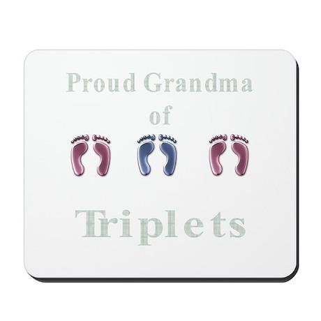 proud grandma of triplets Mousepad