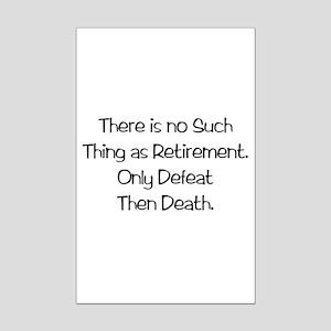 Retirement Mini Poster Print