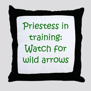 Priestess Training Arrows Gre Throw Pillow