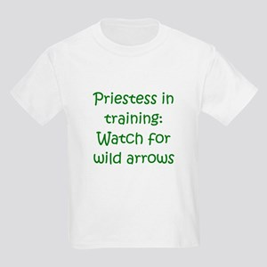 Priestess Training Arrows Gre Kids Light T-Shirt