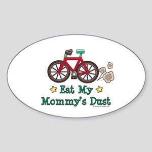 Mommy's Dust Cycling Bicycle Oval Sticker