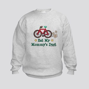 Mommy's Dust Cycling Bicycle Kids Sweatshirt