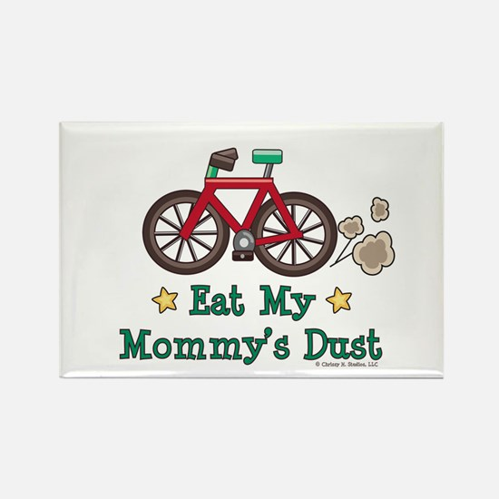 Mommy's Dust Cycling Bicycle Rectangle Magnet