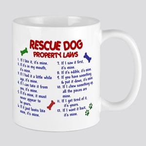 Rescue Dog Property Laws 2 Large Mugs