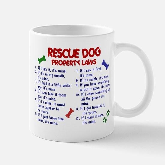 Rescue Dog Property Laws 2 Large Mugs