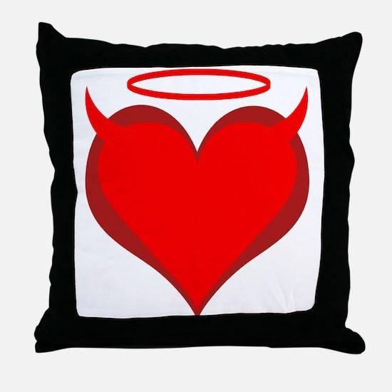 Saint or Sinner Valentine Throw Pillow
