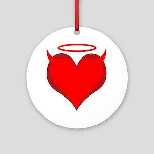 Saint or Sinner Valentine Ornament (Round)