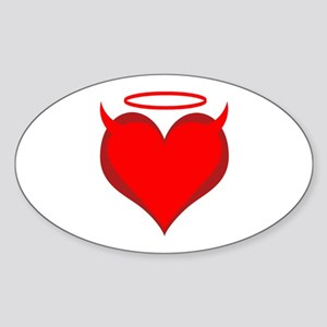 Saint or Sinner Valentine Oval Sticker