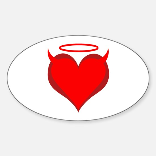 Saint or Sinner Valentine Oval Decal