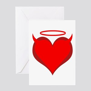 Saint or Sinner Valentine Greeting Card