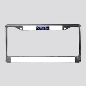 2015 in the Snow Blue License Plate Frame