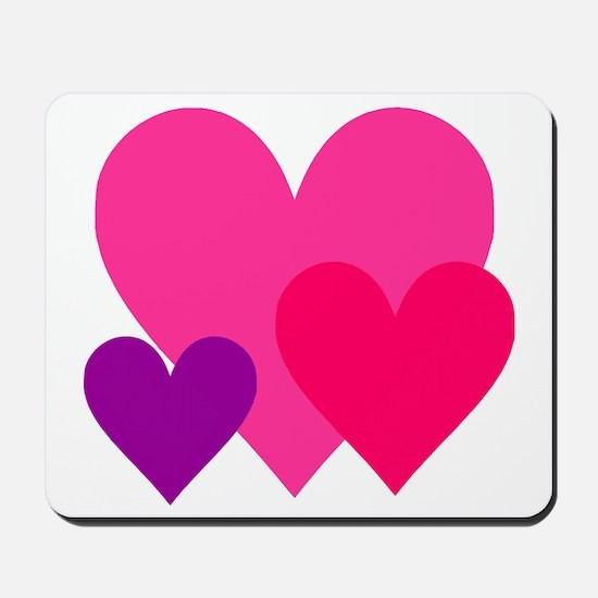Hearts Trio Mousepad