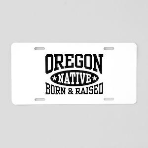 Oregon Native Aluminum License Plate