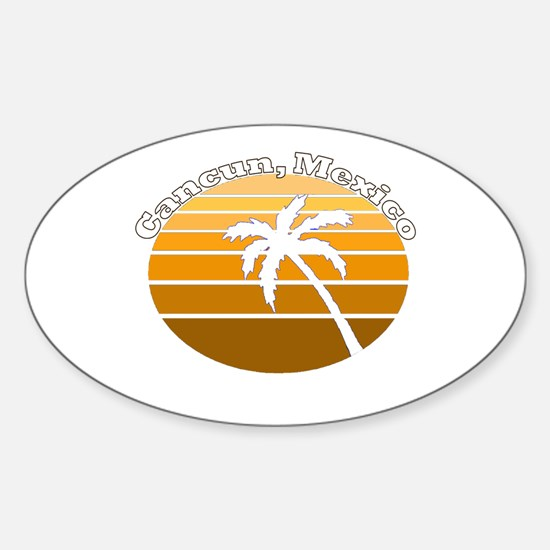 Cancun, Mexico Oval Decal