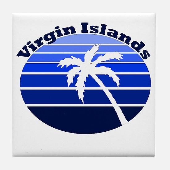 Virgin Islands Tile Coaster