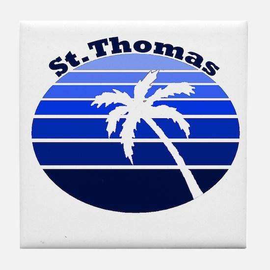St. Thomas, USVI Tile Coaster
