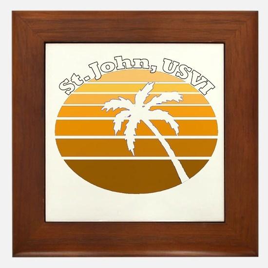 St. John, USVI Framed Tile