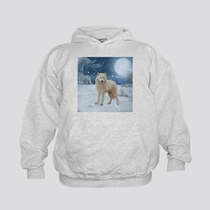 Awesome arctic wolf in the night Sweatshirt
