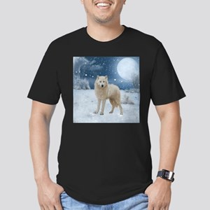 Awesome arctic wolf in the night T-Shirt