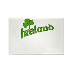 IRELAND with Shamrock Rectangle Magnet (100 pack)