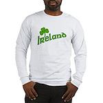 IRELAND with Shamrock Long Sleeve T-Shirt