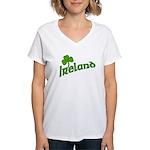 IRELAND with Shamrock Women's V-Neck T-Shirt