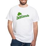 IRELAND with Shamrock White T-Shirt