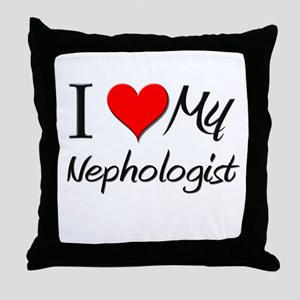 I Heart My Nephologist Throw Pillow