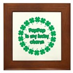 PapPap is My Lucky Charm Framed Tile