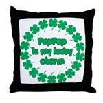 PapPap is My Lucky Charm Throw Pillow