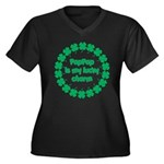 PapPap is My Lucky Charm Women's Plus Size V-Neck