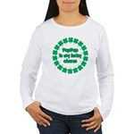 PapPap is My Lucky Charm Women's Long Sleeve T-Shi