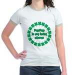 PapPap is My Lucky Charm Jr. Ringer T-Shirt