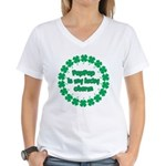PapPap is My Lucky Charm Women's V-Neck T-Shirt