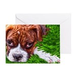 Boxer Puppy Painting Greeting Cards