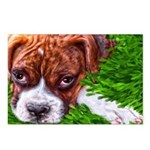 Boxer Puppy Painting Postcards (Package of 8)