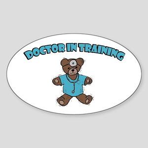 Doctor In Training Oval Sticker