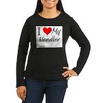 I Heart My Needler Women's Long Sleeve Dark T-Shir