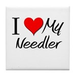 I Heart My Needler Tile Coaster