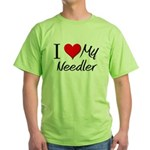 I Heart My Needler Green T-Shirt