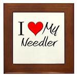 I Heart My Needler Framed Tile