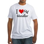 I Heart My Needler Fitted T-Shirt