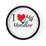 I Heart My Needler Wall Clock