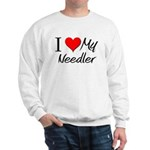 I Heart My Needler Sweatshirt