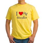 I Heart My Needler Yellow T-Shirt