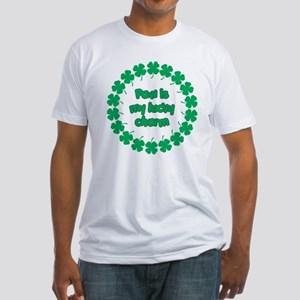 Paw is My Lucky Charm Fitted T-Shirt
