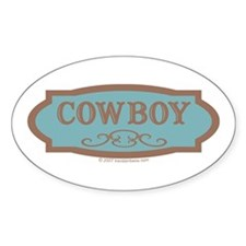 Cowboy - Oval Sticker