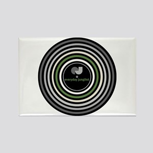 Vinyl Abstract Rectangle Magnet
