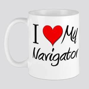 I Heart My Navigator Mug